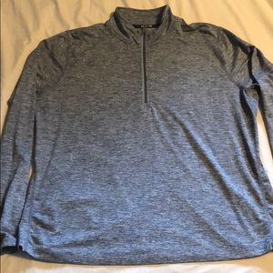 Nike women's plus half zip pullover gray 1X
